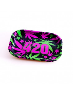 Obraz produktu: v-syndicate 420 vibrant tacka do zwijania jointów rolling tray metalowa