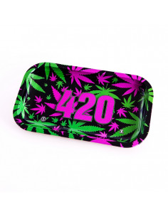 Obraz produktu: v-syndicate 420 vibrant l tacka do zwijania jointów rolling tray metalowa