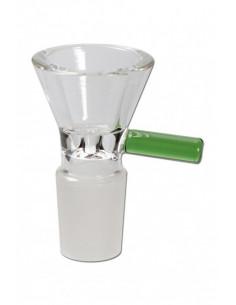 Cybuch szklany GREEN 18.8mm z uchwytem