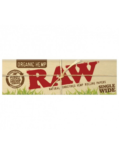 RAW ORGANIC SINGLE WIDE bibułki z filterkami SW