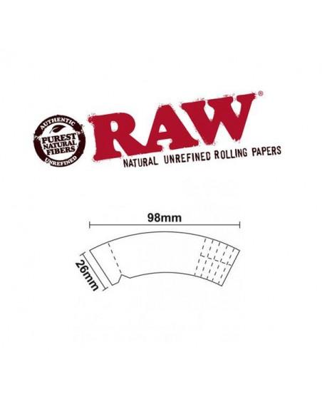 RAW CONE MAESTRO zakrzywione filterki do jointów perforowane stożek