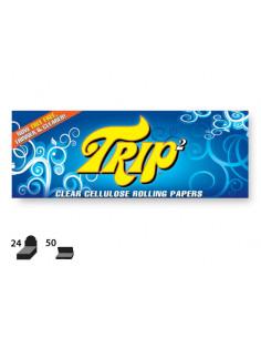 TRIP2 king size CLEAR Bezsmakowe przezroczyste bibułki z celulozy