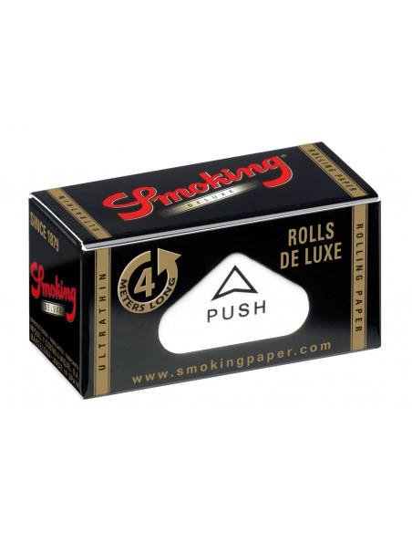 Smoking  Deluxe Rolls black slim Bibułki bletki w rolce