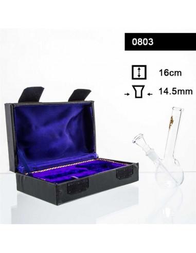 Klasyczne 16cm szklane bongo w pudełku BOX 14.5mm fajka wodna