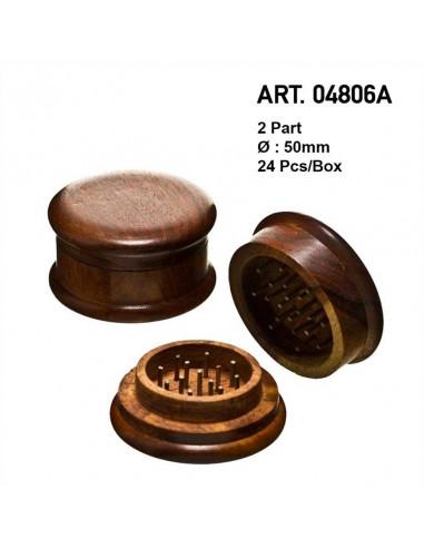 Drewniany młynek grinder 50mm do suszu 2 częściowy