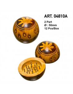 Wooden grinder Kula with leaf 50mm grinder kraszer
