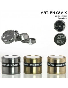Obraz produktu: dope bros amsterdam mix grinder 50mm 4 cz. młynek z sitkiem na pyłek