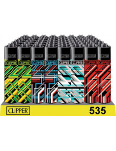 Zapalniczka Clipper GEOMETRIC LINES 4 wzory do wyboru