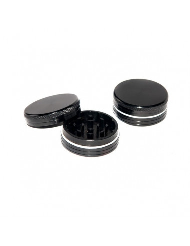 2 piece BLACK aluminum grinder 40mm