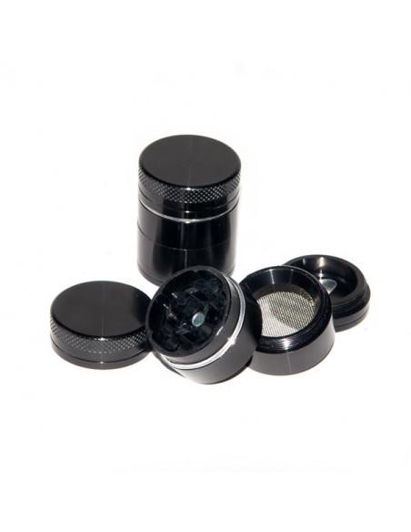 BLACK Młynek Grinder Aluminiowy magnetyczny 4 częściowy 30mm