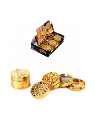 GOLDEN  52mm 4 częściowy młynek grinder kraszer metalowy