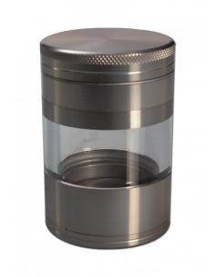 Młynek z szybką aluminiowy 4 częściowy 50mm GRAY