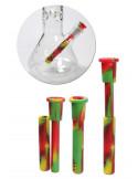 Uniwersalny regulowany adapter rura do bonga silikonowa 18.8 100-160mm