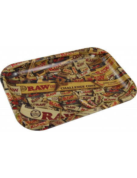 RAW MIX tacka do zwijania jointów rolling tray metalowa MEDIUM