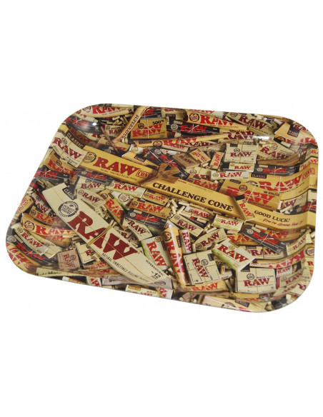 RAW MIX LARGE tacka do zwijania jointów rolling tray metalowa