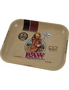 RAW GIRL LARGE metal rolling tray
