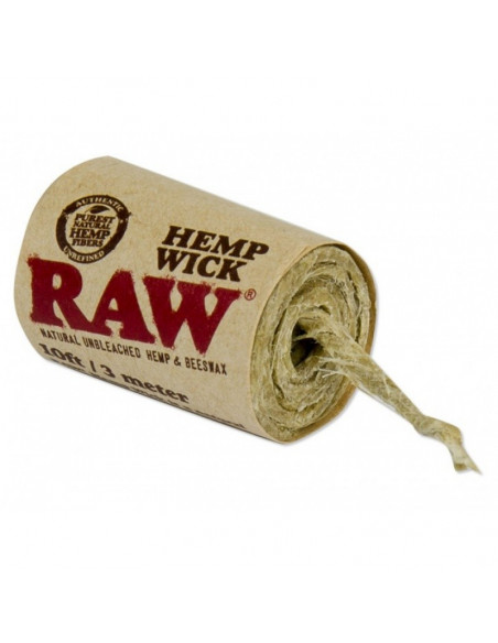 RAW knot konopny 300cm - HEMP WICK natural 3m