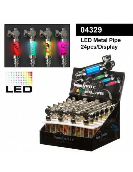 Lufka LED podświetlana metalowa RASTA