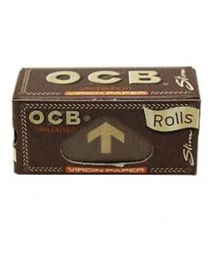 Bibułki w rolce OCB Virgin ROLLS bezchlorowe brązowe