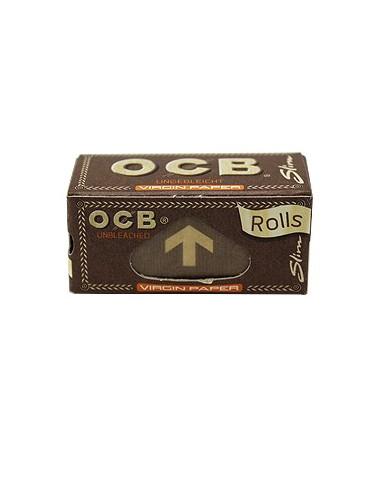OCB Virgin ROLLS tissue paper rolls chlorine free brown