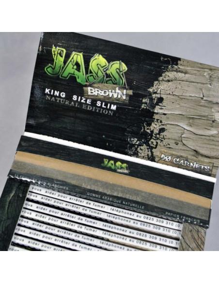 Bibułki Jass Brown King Size Slim brązowe bezchlorowe