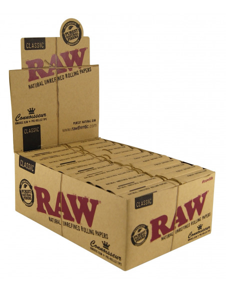 RAW CONNOISSEUR KS SLIM bibułki z gotowymi filterkami pre-rolled tips
