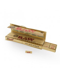 RAW CONNOISSEUR KS SLIM papers with pre-rolled tips filters