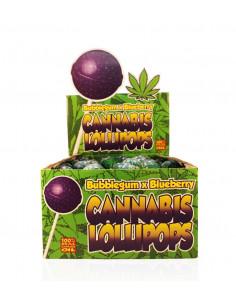 Obraz produktu: lizak konopny bubblegum x blueberry z gumą balonową borówka