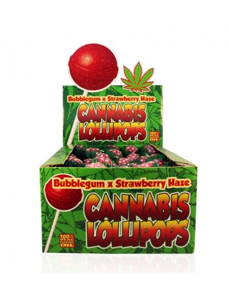 Dr. Greenlove Lizak konopny truskawka Bubblegum x Strawberry z gumą