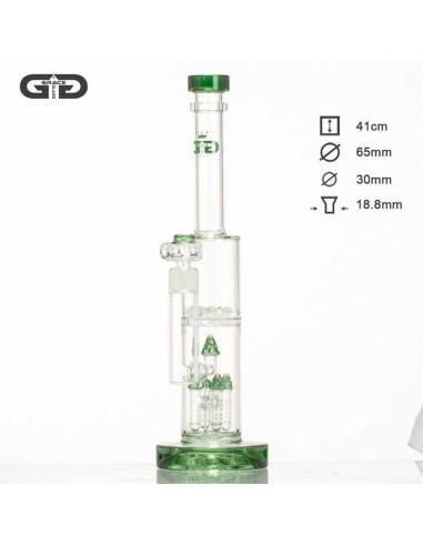 Bongo Grace Glass MUSHROOM GREEN 41cm Dyfuzor Percolator Fajka wodna
