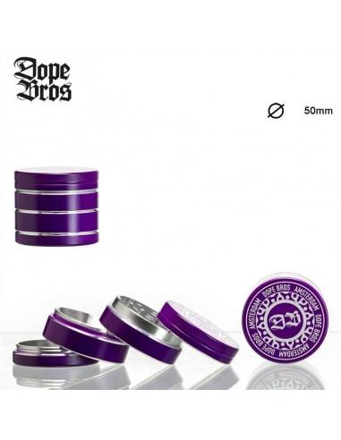 DOPE BROS Purple Grinder Kraszer Młynek 4 cz. 50mm z sitkiem