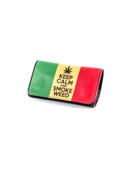 Torebka na tytoń i akcesoria do palenia La Siesta Tobbacco Pouch wzór KEEP CALM AND SMOKE