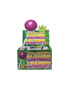 Dr. Greenlove Bubblegum x PURPLE HAZE hemp lollipop with bubble gum