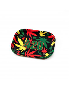 V-SYNDICATE 420 RASTA tacka do zwijania jointów rolling tray metalowa