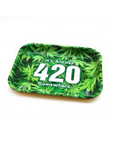 V-SYNDICATE 420 GREEN XL metalowa tacka do zwijania jointów Duża