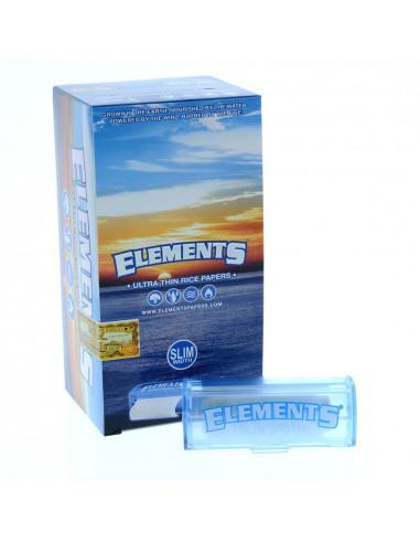 ELEMENTS ROLLS SLIM 5m 1/4 bibułki ultracienkie z papieru ryżowego