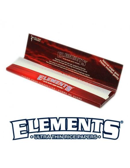 ELEMENTS RED HEMP KS Slim bibułki wolnospalające z konopi
