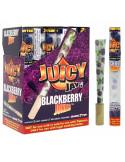 JUICY JONES Blackberry 1/4 gotowe bibułki skręty 2szt + DANK7 tip