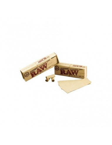 RAW GUMMED gumowane perforowane 33 filterki do jointów gwizdki tips