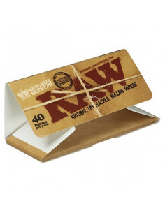 RAW SUPREME King Size Blotting papers 40 unbleached natural blanks