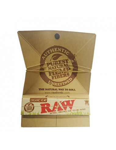 RAW ORGANIC ARTESANO King Size Slim bibułki filterki tacka do kręcenia