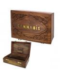 ROLL BOX CANNABIS pudełko drewniane na jointy i bibułki 20x13