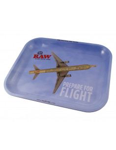 Obraz produktu: raw flying oryginalna metalowa tacka do zwijania jointów rolling tray