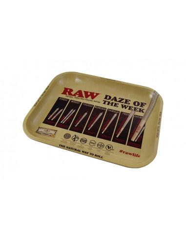 RAW DAZE Oryginalna metalowa tacka do zwijania jointów rolling tray
