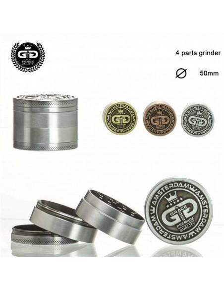 GRACE GLASS METALS młynek grinder 50mm kraszer 4 częściowy do zioła
