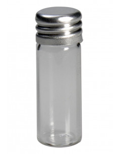 Szklany pojemniczek z aluminiową zakrętką 2ml
