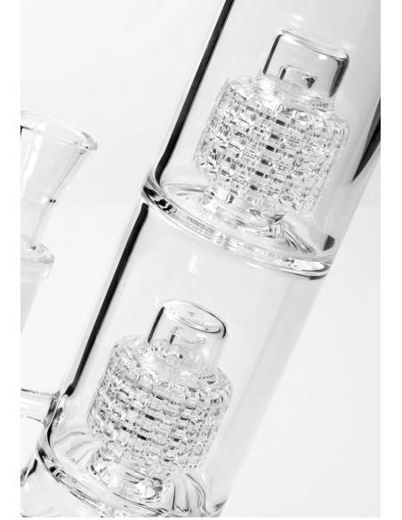 Blaze Glass szklane bongo fajka wodna 2x Drum Percolator 38cm
