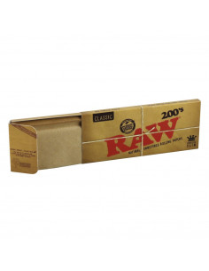 Bibułki RAW 200 King size slim brązowe unbleached 200 bletek do jointów
