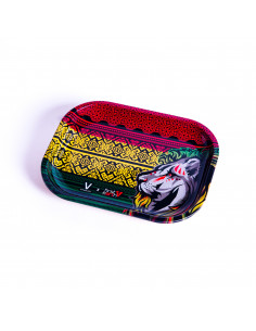 V-SYNDICATE RASTA LION The original metal tray for rolling joints