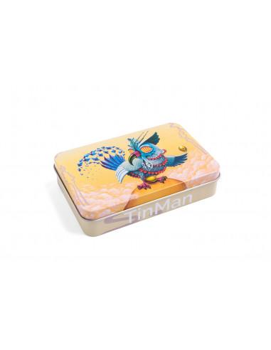 TINMAN OWL - Sowa Pudełko schowek metalowy TIN CASE puszka